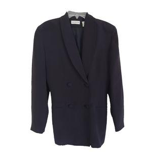 Ann Taylor Women's Blazer Belted Silk Black size 2